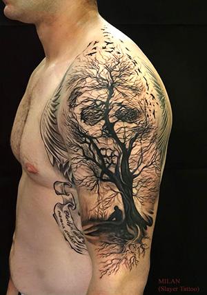 Tatuaggi con teschio e sorprendenti dettagli