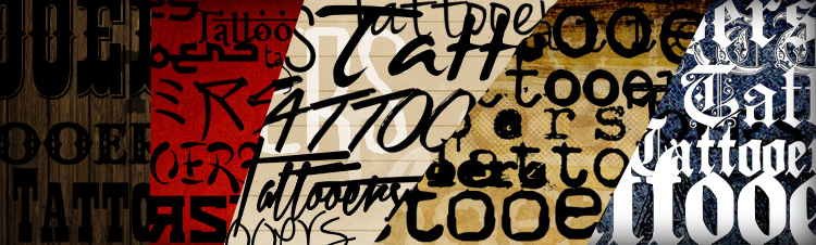 tattoo fonts lettering