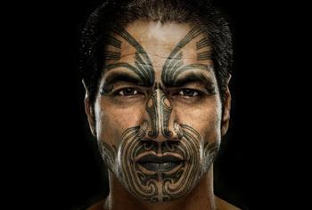 Maori Gesichts-Tattoos