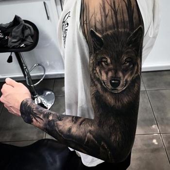 Wolf Tatto Stelle