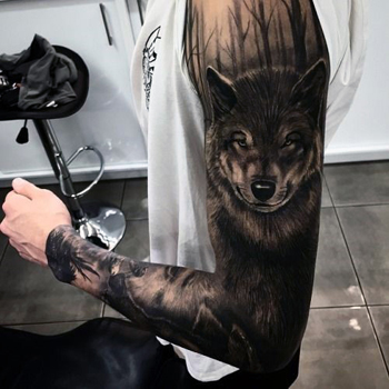 Wolf Tattoo Location