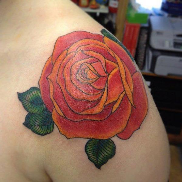 Schulter Blumen Tattoo von Dna Tattoo