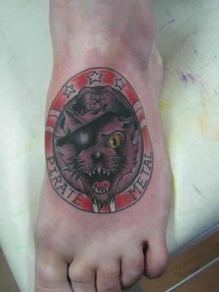 Fuß Katzen Logo Tattoo von Dragon Tears