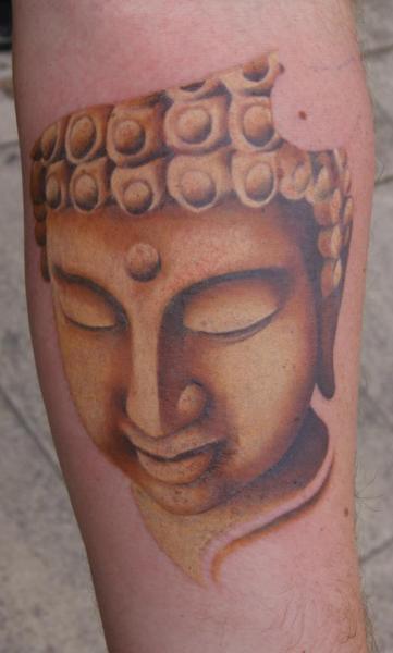 Arm Buddha Tattoo by Dragstrip Tattoos