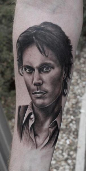 Arm Portrait Realistic Tattoo by Dragstrip Tattoos