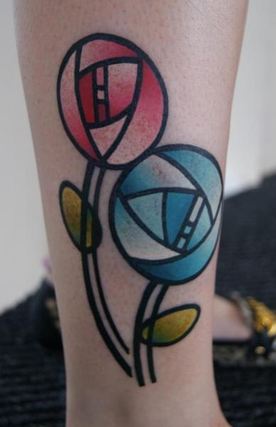 Arm Fantasy Flower Tattoo by Dragstrip Tattoos