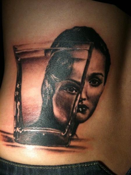 Tatuaggio Fianco Donne Vetro di Dragstrip Tattoos