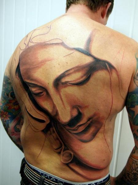 Women Back Tattoo by Eclipse Tattoo