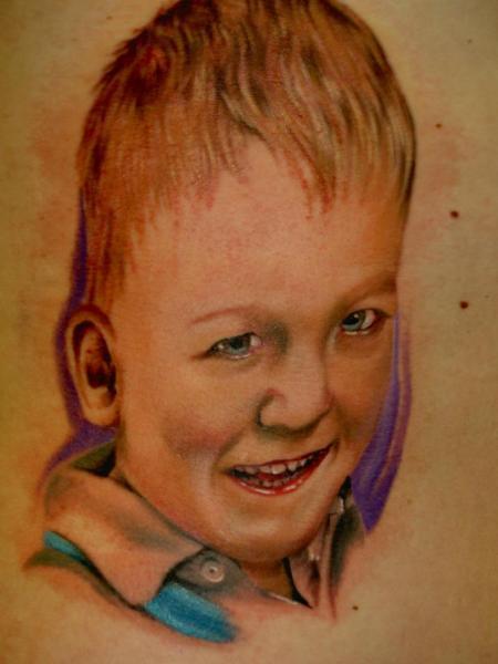 Portrait Realistic Children Tattoo by Eclipse Tattoo