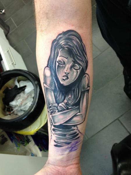 Arm Fantasy Women Tattoo by Evolution Tattoo