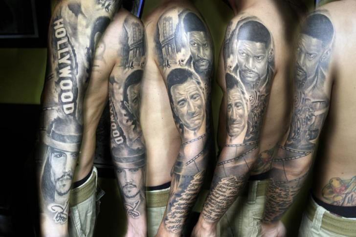 Arm Porträt Realistische Tattoo von Extreme Needle