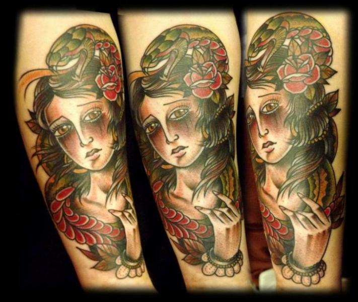 Old School Gypsy Tattoo by Fat Panda