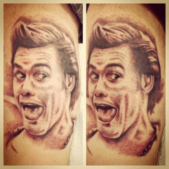 Arm Realistic Jim Carrey Tattoo by Adrenaline Vancity