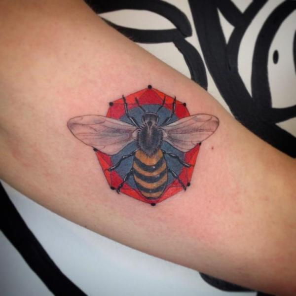 Arm Bee Tattoo by Adrenaline Vancity