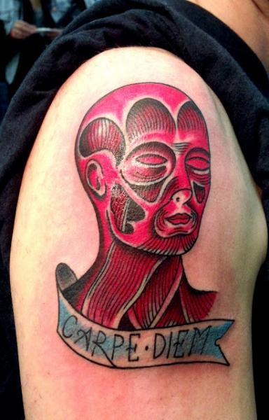 Shoulder Fantasy Head Tattoo by Adrenaline Vancity