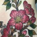 Flower Side Belly tattoo by Adrenaline Vancity
