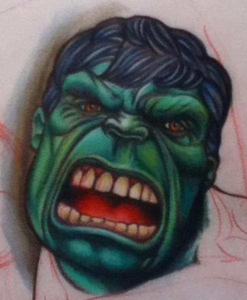 Fantasie Hulk Tattoo von Feel The Steel