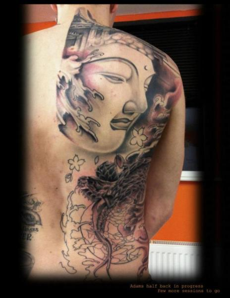 Buddha Back Tattoo by Gtc Tattoo