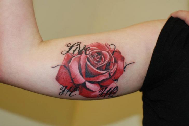 Arm Realistic Flower Tattoo by Hammersmith Tattoo