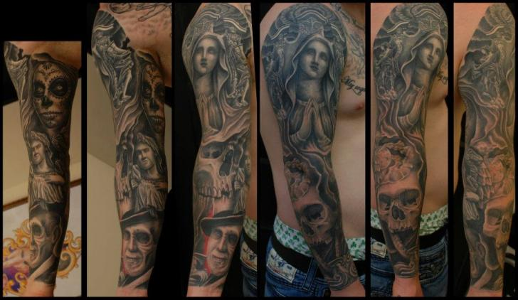 Arm Religious Tattoo by Hammersmith Tattoo