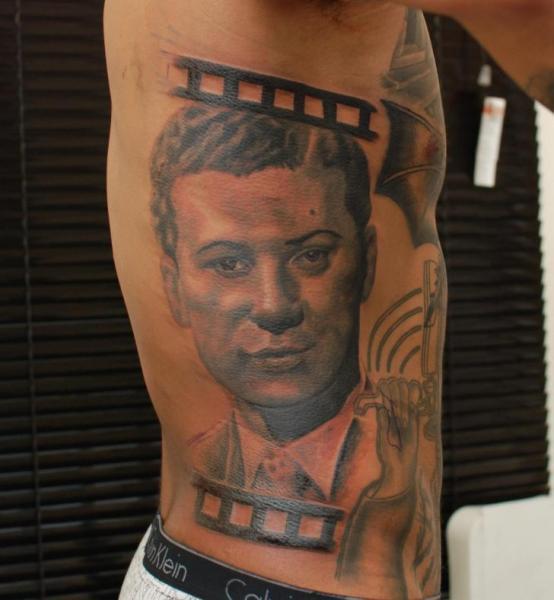 Portrait Realistic Side Tattoo by Hammersmith Tattoo
