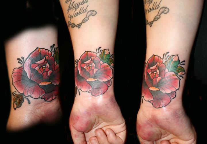 Old School Flower Hand Tattoo by Hell To Pay Tattoo