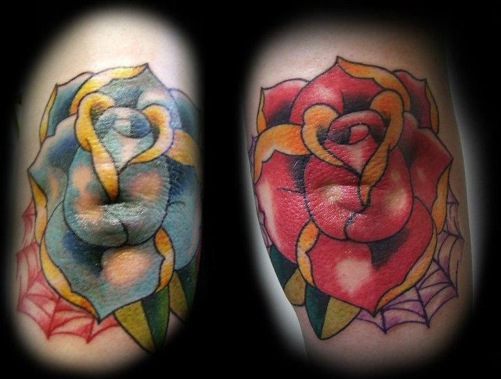 Tatuaggio New School Fiore di Hell To Pay Tattoo