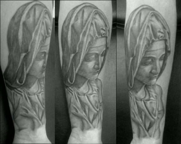 Arm Religious Madonna Tattoo by Sean Body Art