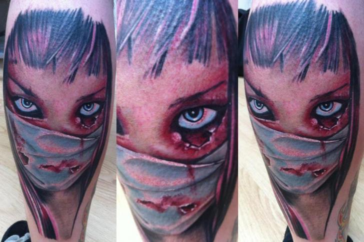 Fantasy Nurse Tattoo by Cake Happy Tattoo