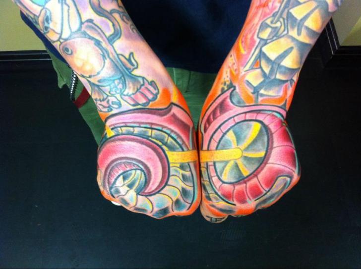 Arm Fantasy Hand Tattoo by Cake Happy Tattoo