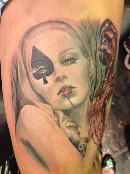 Fantasy Leg Women Tattoo by Cake Happy Tattoo