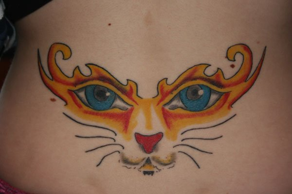 Back Cat Tattoo by Wrexham Ink