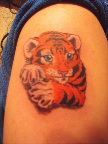 Shoulder Realistic Tiger Tattoo by Wrexham Ink