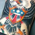 Old School Back Eagle tattoo by Anchors Tattoo