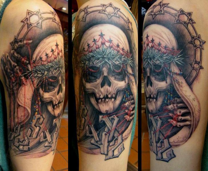 Arm Fantasie Totenkopf Tattoo von Orient Soul