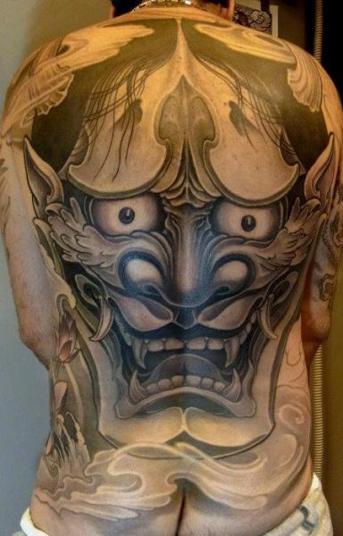 Japanese Back Demon Tattoo by Orient Soul