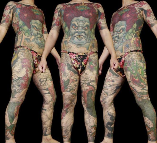 Leg Japanese Body Tattoo by Orient Soul