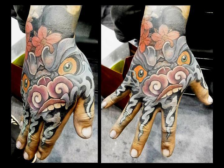 Japanese Hand Demon Tattoo by Orient Soul
