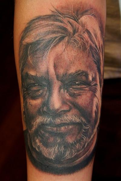 Arm Portrait Realistic Tattoo By Adam Barton