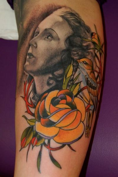 Arm Portrait Tattoo By Adam Barton