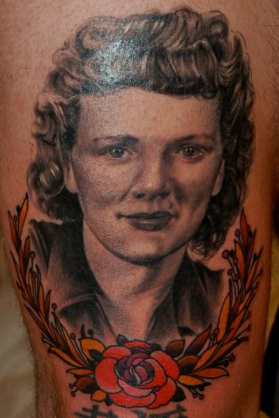 Portrait Realistic Tattoo By Adam Barton