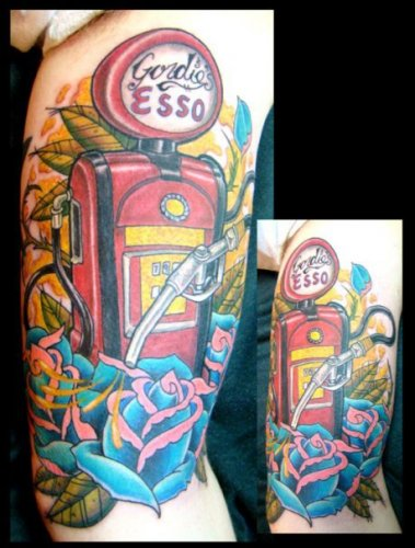 Arm Fuel Tattoo by Adept Tattoo