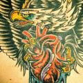 Chest Old School Eagle tattoo by Aloha Monkey Tattoo