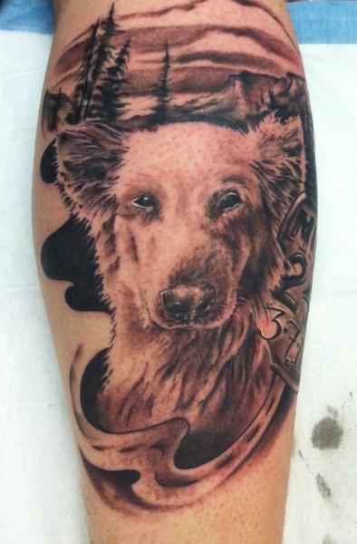 Realistic Dog Tattoo by Altered Skin
