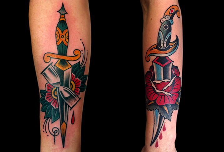 Arm Dagger Tattoo by Artwork Rebels