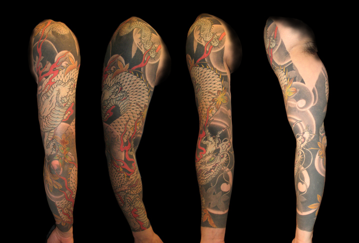 Arm Japanese Dragon Tattoo by Artwork Rebels