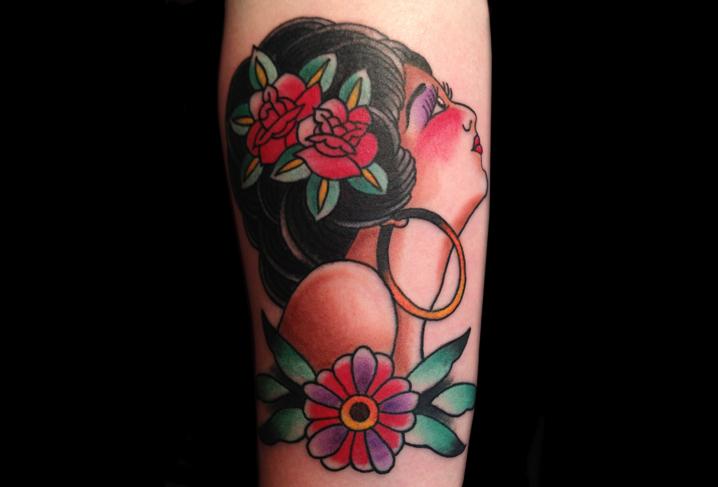 Arm Old School Gypsy Tattoo by Artwork Rebels