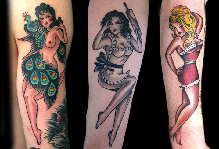 New School Pin Up Tattoo Tatuaje New Sch...
