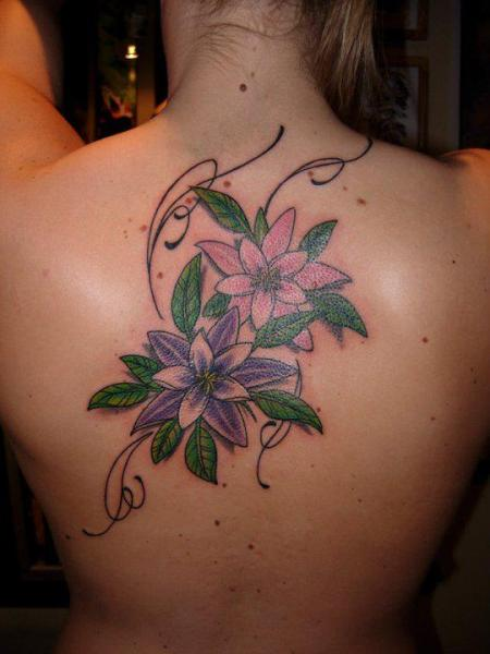 Flower Back Tattoo by Burning Monk Tattoo