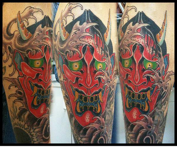 Arm Japanese Demon Tattoo by Big Kahuna Tattoo